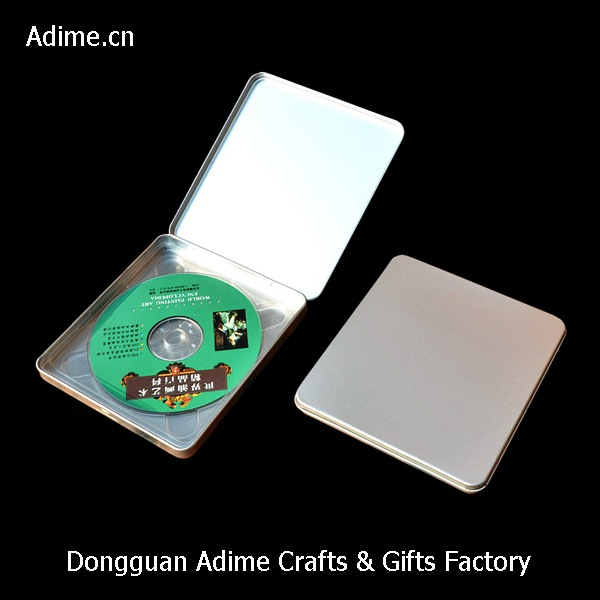 Square Metal CD Tin